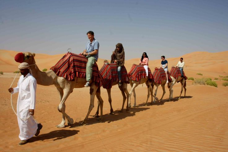Camel riding in Liwa desert option 1